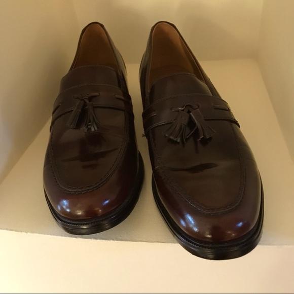 MENS BOSTONIAN Burgundy Tassel Loafers Size 12